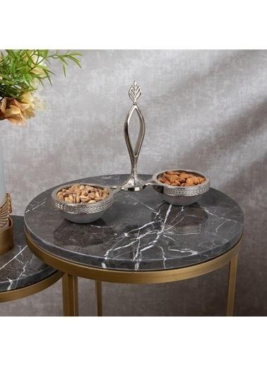 Mira Dekoratif Gümüş 2'li İkramlık Çerezlik Gümüş